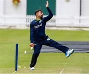 22 July 2019; Simi Singh bowling during an Ireland Cricket training session at Lords Cricket Ground in London, England. Photo by Matt Impey/Sportsfile