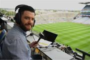 21 July 2019; GAA commentator and sports presenter on Ocean FM Paddy McGill before the GAA Football All-Ireland Senior Championship Quarter-Final Group 1 Phase 2 match between Kerry and Donegal at Croke Park in Dublin. Photo by Ray McManus/Sportsfile