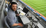 21 July 2019; GAA commentstor and sports presenter on Ocean FM Paddy McGill before the GAA Football All-Ireland Senior Championship Quarter-Final Group 1 Phase 2 match between Kerry and Donegal at Croke Park in Dublin. Photo by Ray McManus/Sportsfile