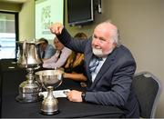 23 July 2019; Sponsor Martin Donnelly during the draw at the 2019 M Donnelly Poc Fada All Ireland Final Launch at Croke Park in Dublin. Photo by Ray McManus/Sportsfile