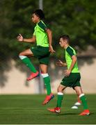 23 July 2019; Tyreik Wright and Lee O'Connor, right, during a Republic of Ireland training session at the FFA Technical Centre ahead of their semi-final game of the 2019 UEFA European U19 Championships in Yerevan, Armenia. Photo by Stephen McCarthy/Sportsfile
