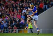 23 July 2019; Conor Bowe of Tipperary celebrates after scoring his side's first goal during the Bord Gais Energy Munster GAA Hurling Under 20 Championship Final match between Tipperary and Cork at Semple Stadium in Thurles, Co Tipperary. Photo by Sam Barnes/Sportsfile