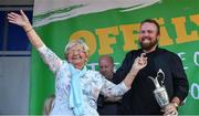 23 July 2019; The 2019 Open Champion Shane Lowry with the Claret Jug and his grandmother Emily Scanlon at his homecoming event in Clara in Offaly. Photo by Piaras Ó Mídheach/Sportsfile