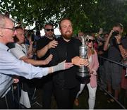 23 July 2019; The 2019 Open Champion Shane Lowry and wife Wendy Honner with the Claret Jug at his homecoming event in Clara in Offaly. Photo by Seb Daly/Sportsfile