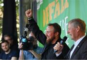 23 July 2019; The 2019 Open Champion Shane Lowry, left, and Michéal O Muircheartaigh at his homecoming event in Clara in Offaly. Photo by Seb Daly/Sportsfile