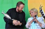 23 July 2019; The 2019 Open Champion Shane Lowry and his grandmother Emily Scanlon at his homecoming event in Clara in Offaly. Photo by Piaras Ó Mídheach/Sportsfile