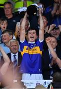 23 July 2019; Tipperary captain Craig Morgan lifts the cup following the Bord Gais Energy Munster GAA Hurling Under 20 Championship Final match between Tipperary and Cork at Semple Stadium in Thurles, Co Tipperary. Photo by Sam Barnes/Sportsfile