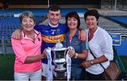 23 July 2019; Craig Morgan of Tipperary with, from left, Helen Bergin, his mother Bríd Morgan, and his aunt Catherine Kennedy, following the Bord Gais Energy Munster GAA Hurling Under 20 Championship Final match between Tipperary and Cork at Semple Stadium in Thurles, Co Tipperary. Photo by Sam Barnes/Sportsfile