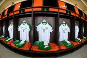 24 July 2019; The Republic of Ireland dressing room prior to the 2019 UEFA U19 Championships semi-final match between Portugal and Republic of Ireland at Banants Stadium in Yerevan, Armenia. Photo by Stephen McCarthy/Sportsfile