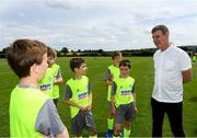 24 July 2019; Republic of Ireland U21 head coach Stephen Kenny with participants during a FAI Festival of Football at Duleek FC in Duleek, Co Meath. Photo by Harry Murphy/Sportsfile