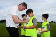 24 July 2019; Republic of Ireland U21 head coach Stephen Kenny signs autographs during a FAI Festival of Football at Duleek FC in Duleek, Co Meath. Photo by Harry Murphy/Sportsfile