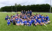 24 July 2019; Leinster players James Lowe and Michael Bent with participants and coaches during the Bank of Ireland Leinster Rugby Summer Camp at Navan RFC in Navan, Co Meath. Photo by Piaras Ó Mídheach/Sportsfile