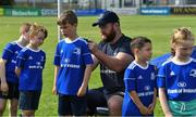 24 July 2019; Leinster player Michael Bent with participants during the Bank of Ireland Leinster Rugby Summer Camp at Navan RFC in Navan, Co Meath. Photo by Piaras Ó Mídheach/Sportsfile