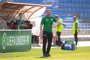 24 July 2019; Republic of Ireland head coach Tom Mohan during the 2019 UEFA U19 Championships semi-final match between Portugal and Republic of Ireland at Banants Stadium in Yerevan, Armenia. Photo by Stephen McCarthy/Sportsfile