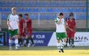24 July 2019; Joe Hodge of Republic of Ireland after his side conceded a second goal during during the 2019 UEFA U19 Championships semi-final match between Portugal and Republic of Ireland at Banants Stadium in Yerevan, Armenia. Photo by Stephen McCarthy/Sportsfile