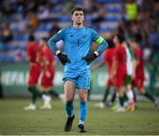 24 July 2019; Brian Maher of Republic of Ireland reacts after his side conceeded a fourth goal during the 2019 UEFA U19 Championships semi-final match between Portugal and Republic of Ireland at Banants Stadium in Yerevan, Armenia. Photo by Stephen McCarthy/Sportsfile