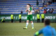 24 July 2019; Andy Lyons of Republic of Ireland following the 2019 UEFA U19 Championships semi-final match between Portugal and Republic of Ireland at Banants Stadium in Yerevan, Armenia. Photo by Stephen McCarthy/Sportsfile