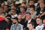 24 July 2019; Former Dundalk manager and current Republic of Ireland U21 manager Stephen Kenny, right, and Dundalk opposition analyst Stephen O'Donnell in attendance prior to the UEFA Champions League Second Qualifying Round 1st Leg match between Dundalk and Qarabag FK at Oriel Park in Dundalk, Louth. Photo by Ben McShane/Sportsfile