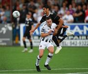 24 July 2019; Robbie Benson of Dundalk in action against Rahil Mammadov of Qarabag FK during the UEFA Champions League Second Qualifying Round 1st Leg match between Dundalk and Qarabag FK at Oriel Park in Dundalk, Louth. Photo by Seb Daly/Sportsfile