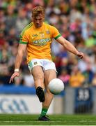 21 July 2019; Shane Walsh of Meath kicks a free during the GAA Football All-Ireland Senior Championship Quarter-Final Group 1 Phase 2 match between Mayo and Meath at Croke Park in Dublin. Photo by Ray McManus/Sportsfile