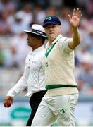 26 July 2019; Kevin O'Brien of Ireland waves during day three of the Specsavers Test Match between Ireland and England at Lords Cricket Ground in London, England. Photo by Matt Impey/Sportsfile