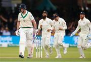 26 July 2019; Kevin O'Brien of Ireland leaves the crease after being dissmissed by Stuart Board of England LBW during day three of the Specsavers Test Match between Ireland and England at Lords Cricket Ground in London, England. Photo by Matt Impey/Sportsfile