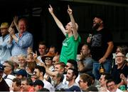 26 July 2019; Irealnd fans during day three of the Specsavers Test Match between Ireland and England at Lords Cricket Ground in London, England. Photo by Matt Impey/Sportsfile