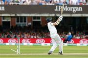 26 July 2019; Tim Murtagh of Ireland is bowled by Chris Woakes of England giving England the victory on day three of the Specsavers Test Match between Ireland and England at Lords Cricket Ground in London, England. Photo by Matt Impey/Sportsfile