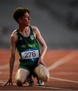 26 July 2019; Micheal Morgan of Ireland after competing in the boys 3k final at the Tofiq Bahramov Republican Stadium during Day Five of the 2019 Summer European Youth Olympic Festival in Baku, Azerbaijan. Photo by Eóin Noonan/Sportsfile