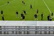 27 July 2019; Dublin players walk the pitch prior to the Electric Ireland GAA Football All-Ireland Minor Championship Quarter-Final match between Mayo and Dublin at Glennon Brothers Pearse Park in Longford. Photo by Seb Daly/Sportsfile