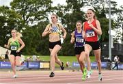 27 July 2019; Ciara Mageean of U.C.D. A.C., Co. Dublin, right, Women's 800m heats, alongside Louise Shanahan of Leevale A.C., Co. Cork, centre, during day one of the Irish Life Health National Senior Track & Field Championships at Morton Stadium in Santry, Dublin. Photo by Sam Barnes/Sportsfile