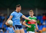 27 July 2019; Luke Swan of Dublin reacts after play is brought back during the Electric Ireland GAA Football All-Ireland Minor Championship Quarter-Final match between Mayo and Dublin at Glennon Brothers Pearse Park in Longford. Photo by Seb Daly/Sportsfile