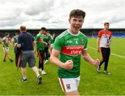 27 July 2019; Ruairí Keane of Mayo celebrates following his side's victory during the Electric Ireland GAA Football All-Ireland Minor Championship Quarter-Final match between Mayo and Dublin at Glennon Brothers Pearse Park in Longford. Photo by Seb Daly/Sportsfile