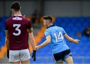 27 July 2019; Ciarán Archer of Dublin celebrates after scoring his side's first goal of the game during the EirGrid GAA Football All-Ireland U20 Championship Semi-Final match between Galway and Dublin at Glennon Brothers Pearse Park in Longford. Photo by Seb Daly/Sportsfile