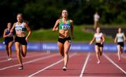 27 July 2019; Sophie Becker of St. Joseph's A.C., Co. Kilkenmy, competing in the Women's 200m heats during day one of the Irish Life Health National Senior Track & Field Championships at Morton Stadium in Santry, Dublin. Photo by Sam Barnes/Sportsfile