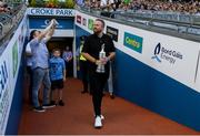 27 July 2019; The 2019 Open Champion Shane Lowry with the Claret Jug ahead of the GAA Hurling All-Ireland Senior Championship Semi-Final match between Kilkenny and Limerick at Croke Park in Dublin. Photo by Ramsey Cardy/Sportsfile