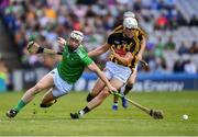 27 July 2019; Cian Lynch of Limerick in action Conor Browne of Kilkenny during the GAA Hurling All-Ireland Senior Championship Semi-Final match between Kilkenny and Limerick at Croke Park in Dublin. Photo by Ray McManus/Sportsfile