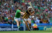 27 July 2019; Pádraig Walsh of Kilkenny in action against Peter Casey of Limerick during the GAA Hurling All-Ireland Senior Championship Semi-Final match between Kilkenny and Limerick at Croke Park in Dublin. Photo by Piaras Ó Mídheach/Sportsfile