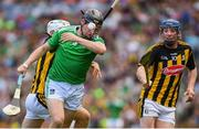 27 July 2019; Peter Casey of Limerick in action against Pádraig Walsh of Kilkenny during the GAA Hurling All-Ireland Senior Championship Semi-Final match between Kilkenny and Limerick at Croke Park in Dublin. Photo by Ramsey Cardy/Sportsfile