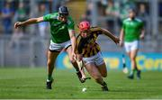 27 July 2019; Adrian Mullen of Kilkenny in action against Diarmaid Byrnes of Limerick during the GAA Hurling All-Ireland Senior Championship Semi-Final match between Kilkenny and Limerick at Croke Park in Dublin. Photo by Piaras Ó Mídheach/Sportsfile