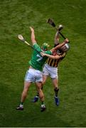27 July 2019; TJ Reid of Kilkenny in action against Dan Morrissey of Limerick during the GAA Hurling All-Ireland Senior Championship Semi-Final match between Kilkenny and Limerick at Croke Park in Dublin. Photo by Daire Brennan/Sportsfile