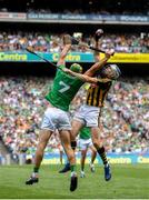 27 July 2019; TJ Reid of Kilkenny in action against Dan Morrissey of Limerick during the GAA Hurling All-Ireland Senior Championship Semi-Final match between Kilkenny and Limerick at Croke Park in Dublin. Photo by David Fitzgerald/Sportsfile