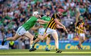 27 July 2019; Adrian Mullen of Kilkenny in action against Kyle Hayes of Limerick during the GAA Hurling All-Ireland Senior Championship Semi-Final match between Kilkenny and Limerick at Croke Park in Dublin. Photo by Ramsey Cardy/Sportsfile