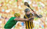 27 July 2019; Walter Walsh of Kilkenny in action against Dan Morrissey of Limerick during the GAA Hurling All-Ireland Senior Championship Semi-Final match between Kilkenny and Limerick at Croke Park in Dublin. Photo by Ramsey Cardy/Sportsfile