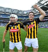 27 July 2019; Pádraig Walsh, left, and Colin Fennelly of Kilkenny celebrate following the GAA Hurling All-Ireland Senior Championship Semi-Final match between Kilkenny and Limerick at Croke Park in Dublin. Photo by Ramsey Cardy/Sportsfile