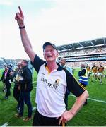 27 July 2019; Kilkenny manager Brian Cody celebrates following the GAA Hurling All-Ireland Senior Championship Semi-Final match between Kilkenny and Limerick at Croke Park in Dublin. Photo by David Fitzgerald/Sportsfile