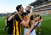 27 July 2019; Colin Fennelly, left, and TJ Reid of Kilkenny celebrate following the GAA Hurling All-Ireland Senior Championship Semi-Final match between Kilkenny and Limerick at Croke Park in Dublin. Photo by Ramsey Cardy/Sportsfile