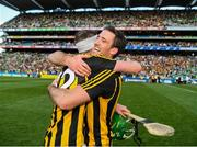 27 July 2019; Joey Holden, wearing 32,  is congratulated by Colin Fennelly of Kilkenny after the GAA Hurling All-Ireland Senior Championship Semi-Final match between Kilkenny and Limerick at Croke Park in Dublin. Photo by Ray McManus/Sportsfile