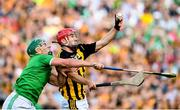 27 July 2019; Bill Sheehan of Kilkenny in action against Seán Finn of Limerick during the GAA Hurling All-Ireland Senior Championship Semi-Final match between Kilkenny and Limerick at Croke Park in Dublin. Photo by Ramsey Cardy/Sportsfile