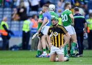 27 July 2019; Shane Dowling of Limerick, wearing a Kilkenny jersey, dejected after the GAA Hurling All-Ireland Senior Championship Semi-Final match between Kilkenny and Limerick at Croke Park in Dublin. Photo by Piaras Ó Mídheach/Sportsfile